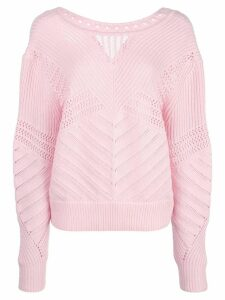 Barrie perforated jumper - PINK
