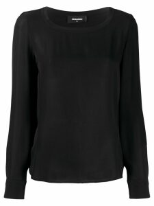 Dsquared2 long sleeve silk blouse - Black