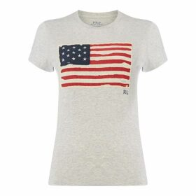Polo Ralph Lauren Flag Print T Shirt