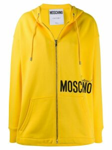 Moschino Couture! print zipped hoodie - Yellow