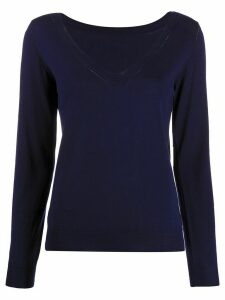 P.A.R.O.S.H. V-neck ribbed knit sweater - Blue