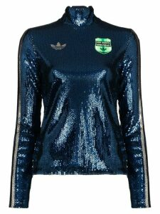 adidas x Anna Isoniemi sequin turtleneck - Blue