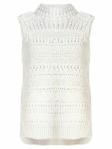 Christian Wijnants Korie chunky knit sleeveless jumper - White