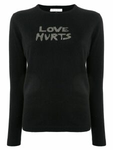 Bella Freud Love Hurts studded jumper - Black