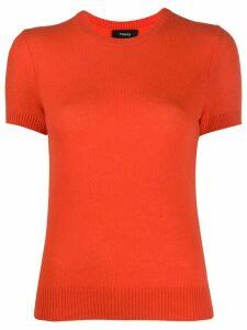 Theory short sleeve fine knit top - ORANGE