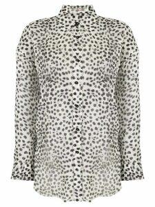 Ermanno Scervino leopard-print silk shirt - White
