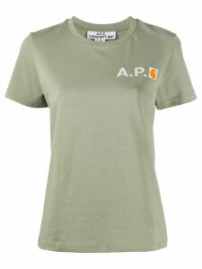 A.P.C. crew neck logo printed T-shirt - Green