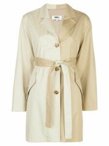 Mm6 Maison Margiela two-tone wrap coat - NEUTRALS