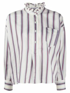 Isabel Marant Étoile Idety striped print shirt - NEUTRALS