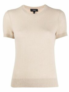 Theory crew neck cashmere top - NEUTRALS