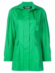 Jacquemus pocket detail button-front top - Green