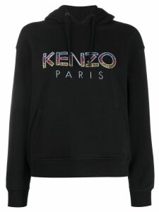 Kenzo embellished-logo hooded sweatshirt - Black