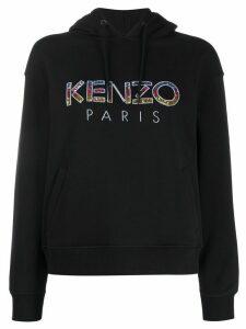 Kenzo embellished-logo hooded sweatshirt - Black