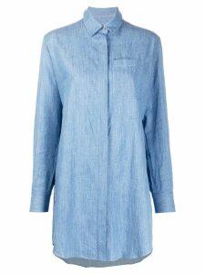Karl Lagerfeld embellished logo shirt - Blue