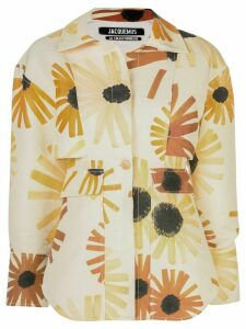 Jacquemus sunflower print shirt - Yellow