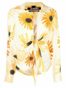 Jacquemus sunflower print long-sleeved shirt - Yellow