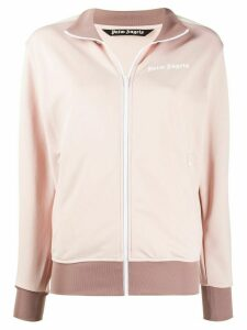 Palm Angels logo print bomber jacket - PINK