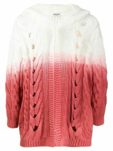 Saint Laurent hooded gradient chunky cardigan - White