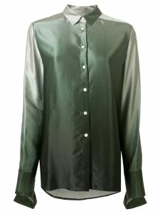 Christopher Esber buttoned ombre shirt - Green