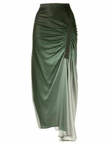 Christopher Esber asymmetric gathered skirt - Green