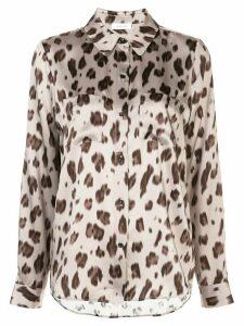 ANINE BING Vivienne leopard-print silk shirt - NEUTRALS