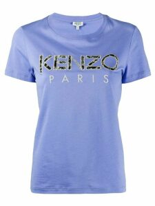 Kenzo embroidered logo T-shirt - Blue