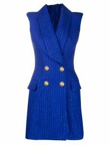 Balmain sleeveless blazer dress - Blue