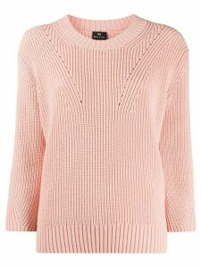 PS Paul Smith long-sleeve fitted jumper - PINK