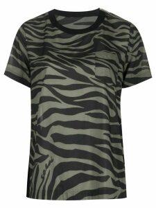 Sacai zebra print T-shirt - Black
