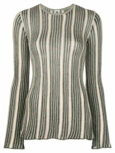 M Missoni striped glitter jumper - Black