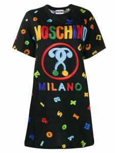 Moschino logo print T-shirt - Black