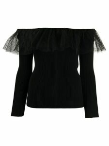 RedValentino off-the-shoulder knitted top - Black