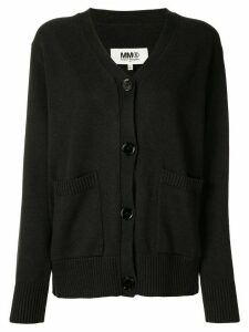 Mm6 Maison Margiela elbow patch cotton cardigan - Black