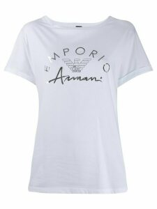 Emporio Armani logo-print crew neck T-shirt - White
