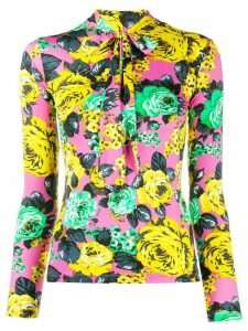 MSGM floral-print slim-fit sweatshirt - Yellow