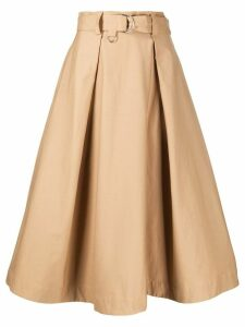 MSGM belted A-line skirt - Brown