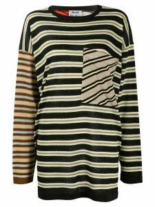 Acne Studios oversized multi-stripe jumper - Black
