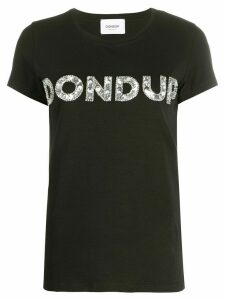Dondup sequin logo embellished T-shirt - Black