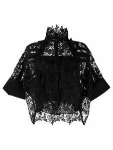 Sacai lace loose fit blouse - Black