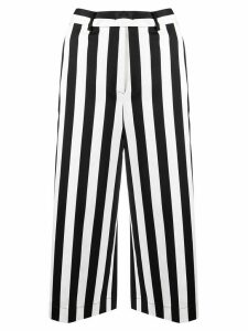 Pinko striped cropped trousers - Black