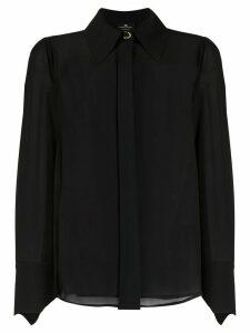 Elisabetta Franchi tie-effect shirt - Black