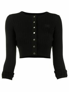Elisabetta Franchi cropped knit cardigan - Black