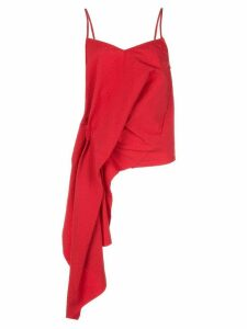 Marques'Almeida draped slip top - Red