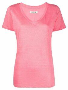Max & Moi linen v-neck T-shirt - PINK