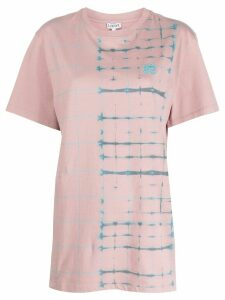 Loewe check anagram-print cotton T-shirt - PINK