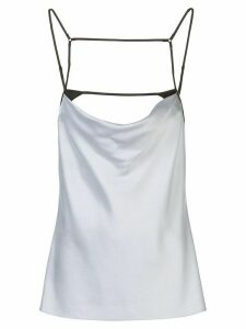 Kiki de Montparnasse harness silk cami top - Blue