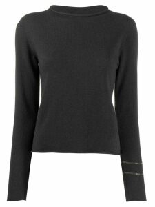 Fabiana Filippi embellished sleeve jumper - Grey