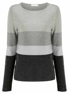 Fabiana Filippi round neck striped jumper - Grey