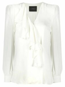 John Richmond ruffle-trimmed blouse - White