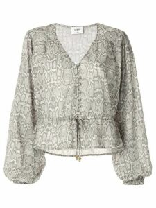 Suboo Sylvie balloon sleeve button blouse - Grey